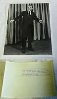 1958 NBC Press Photo ~ GEORGE BURNS ~ The George Burns Show