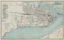 QUEBEC CITY plan Ville de Québec 1759/60 British/French troop positions 1908 map