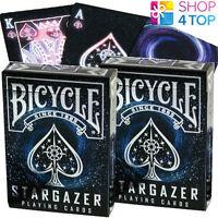 2 DECKS OF BICYCLE STARGAZER PLAYING CARDS MAGIC TRICKS SPACE USPCC SEALED NEW