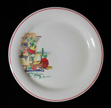 "Homer Laughlin China Hacienda Pattern Salad Plate 7 1/4"" Adobe House Cactus"