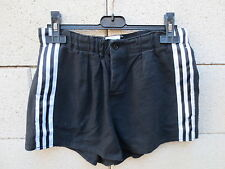 VINTAGE Short rugby ADIDAS C.A BRIVE années 80 coton Ventex France 80 S D46 UK32