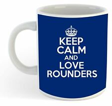 Keep Calm And Love Rounders  Mug - Blue