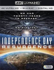 Independence Day: Resurgence (4K Ultra HD + Blu-ray, 2016, 2-Disc) w/slip, NEW!