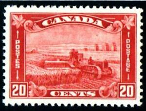 CANADA. 1930. RED 20C. HARVESTING WITH TRACTOR. UN/M/MINT.SG#301
