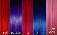 CLIP IN REMY REAL HUMAN HAIR EXTENSIONS *1pc Single Clip*PURPLE*BLUE*RED*PINK**