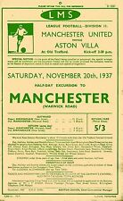 Railway Handbill A4 REPRINT LMS Football Excursion to Man Utd v Aston Villa 1937