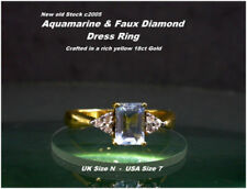 Cubic Zirconia Solitaire with Accents Not Enhanced Fine Gemstone Rings