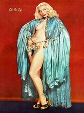 ART PRINT POSTER VINTAGE annonce Lili St Cyr Burlesque Danseuse vintage nofl1425