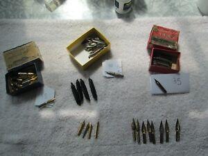 150 Pen Nibs (60+ Gold in OB) - Spencerian, Esterbrook, Buffalo Etc. - Exc Cond
