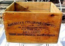 DYNAMITE BOX WOOD CRATE AMERICAN CYANAMID COMPANY ROCKEFELLER PLAZA N.Y. EMPTY