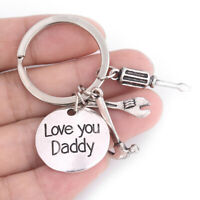 Fashion Men's Hand Tools Keyring Love You Daddy Keychain Father's Day Gift FT