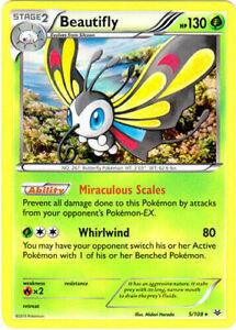 Pokemon, Roaring Skies,  4x Beautifly 5/108 -  Holo Rare - New, NM/M