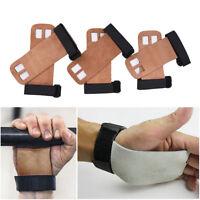 1 pair Grips crossfit gymnastics hand grip guard palm protectors glove Brown BH