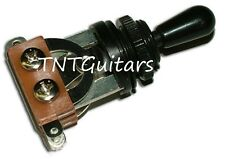 Dragonfire 3 Way Toggle Switch Selector for LES PAUL OPEN Style - Black w/ Black