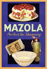 Kitchen MAZOLA Cake Dining Cooking Cook Art Poster Print