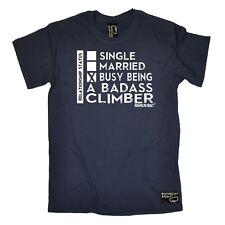 Climbing - Bust Being A Badass Climber - bouldering funny Birthday T-SHIRT