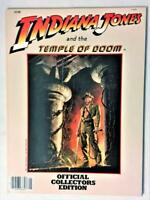 INDIANA JONES TEMPLE OF DOOM 1984 OFFICIAL COLLECTORS ED SOFT COVER BOOK LFL