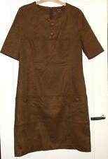 Jolie robe marron tissu effet peu CAROLINE BISS T 40 TBE