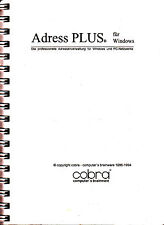 Cobra Adress PLUS für Windows Untertitel: Die professionelle Adressverwaltung fü