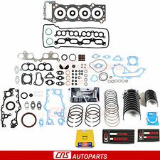 Toyota 2RZFE 3RZFE Tacoma 2.4L 2.7L Re-Ring Kit Full Gasket Set Bearings Rings
