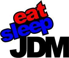 EAT SLEEP JDM - DECAL 200mm x 180mm - CAR DECAL