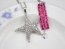 Betsey Johnson Fashion Jewelry rhinestone starfish pendant necklace # H388