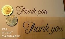 P62 Thank you script rubber stamp