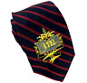 """Juicy Couture Royal Tie Necktie Navy Blue and Red Diagonal Striping 58""""L"""