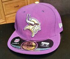 NWT NFL Minnesota Vikings Fitted New Era 5950 59fifty Hat Cap Size 6 1/2