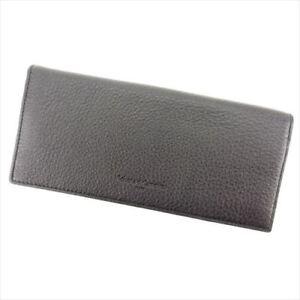 Roberta Di Camerino Wallet Purse Long Wallet Logo Black Mens Authentic Used P752