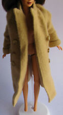 TOP COAT MATTEL DESIGNER RALPH LAUREN BARBIE DOLL TAN WOOL COAT SATIN LINED