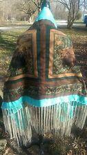 Bear Hug, Native American Style Shawl,14in Fringe, Regalia, Pow-Wow,