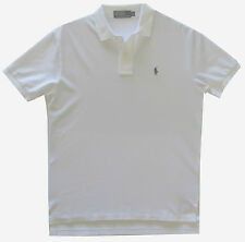 Ralph Lauren Mens Boy Classic Loose Fit Short Sleeve Polo Shirt White Navy Pony M