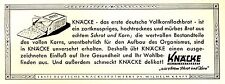 Knäckebrot Knäcke Kraft Reklame Kriegsjahr 1942 Brot Bäcker WW WK 2 Krieg Hunger