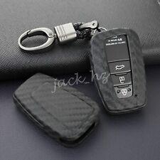 Durable Carbon Fiber LOOK Car Key Case Cover for Toyota Camry Avalon Rav4 86