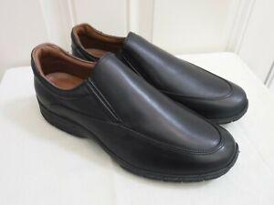 New ALLEN EDMONDS WEEKENDER 11 D Black Leather Dress Casual Slip On Loafers Shoe