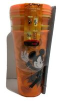 Zak! Disney Mickey Mouse Halloween 4 Pack Glow In The Dark Tumblers 24oz Straws