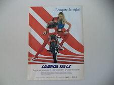 advertising Pubblicità 1983 MOTO LAVERDA LZ 125