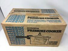 NOB 1981 Presto 4qt Polished Aluminum Pressure Cooker Open Box 01210