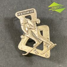 VINTAGE c.1950's LA FLECHETTE ESF FRENCH SKI SCHOOL ALPINE EVENT BADGE ALPS