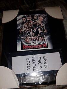 WWE Ringsider Souvenir Ticket Holder Plaque New