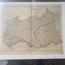 1834 Prussia And Poland J Arrowsmith Map From The London Atlas Antique