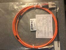 Brand New Sealed - 2m Orange Fibre Optic LC - SC Duplex MM Fibre Patch Cable
