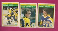 1982-83 OPC  LA KINGS BONAR RC + HARDY RC + SMITH RC NRMT CARD (INV# A4820)