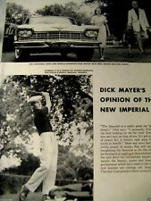 1957 Chrysler Imperial Original Print Ad-Dick Mayers-8.5 x 10.5""