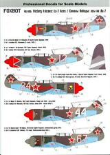 Foxbot Decals 1/48 LAVOCHKIN La-7 Fighter VICTORY FALCONS RUSSIAN ACES