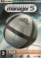 CHAMPIONSHIP MANAGER 5 GAME PC CD-ROM VIDEOGAMES + MANUAL