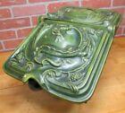 Antique Victorian Dragon Serpent Coal Scuttle Bin Cast Iron Porcelain Enamel