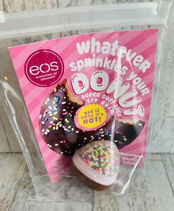 eos Micro Batch Chocolate Glazed Donut Shea Lip Balm Limited Edition New