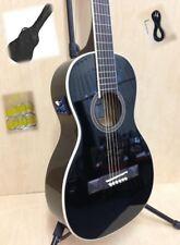 Caraya Parlor-590BK Electric-Acoustic Guita,EQ,Black Gloss +Free Gig Bag,3 Picks